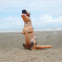 Inflatable Dinosaur Costume 2016 T REX Inflatable Dinosaur Cosplay For Adults Halloween Costume Fan Operated Disfraces
