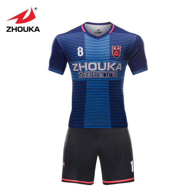 Custom sublimation thailand football shirts polyester quick dry soccer  uniforms sets men best thai quality soccer fde278299