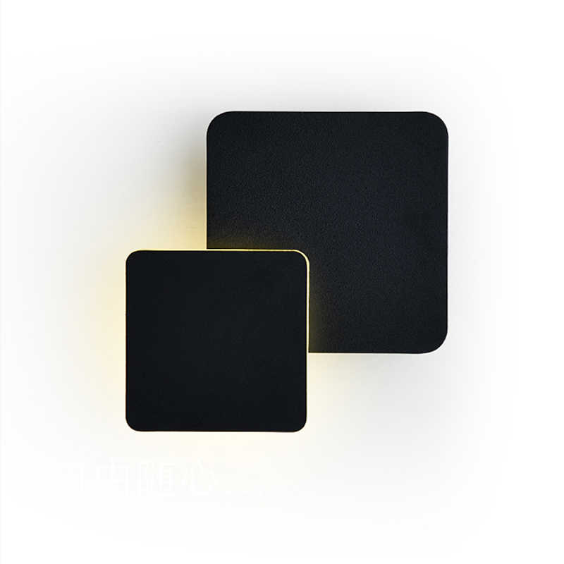 Настенные светильники для спальни гостиной квадратный белый черный корпус AC90-260V Крытый светодиодный настенный светильник вращающийся металлический Серебряный 5 Вт светодиодный бра