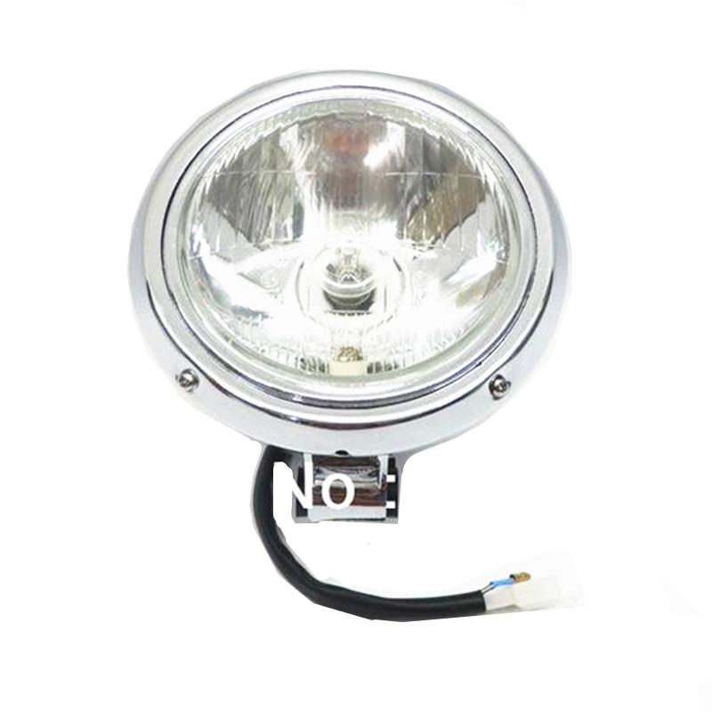 Motorcycle Chrome Headlight Head Lamp For Honda CMX 250 Rebel 250 Steed 400 600 Magan 250 750 All Years