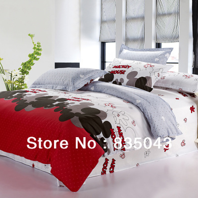 promation mickey mouse bedding sets king size 100 cotton 4pcs
