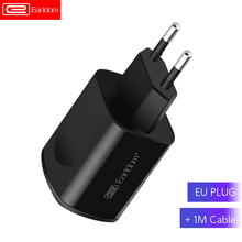 Earldom 5V 2 4A EU Plug Dual USB Wall Charger Mobile Phone Adapter Fast Charging for