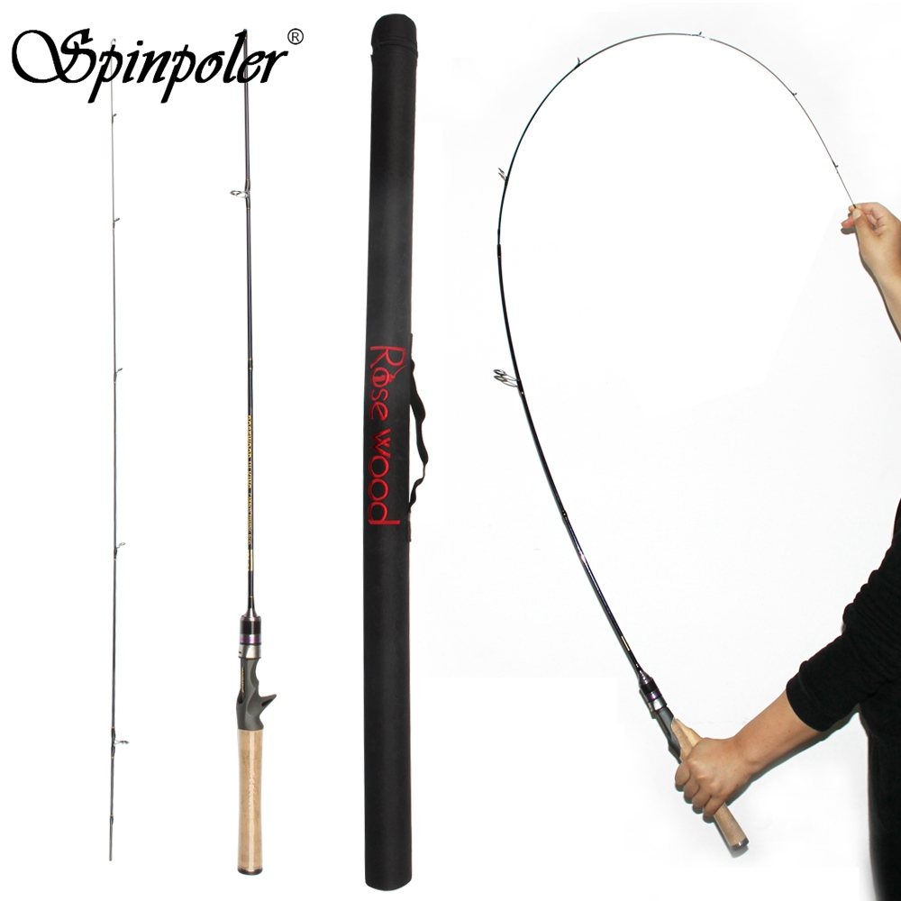 Spinpoler UL Fishing Rod 1 7g Test Slow Action 1 8m 602 Spinning Carbon Rod Solid