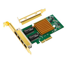 I350T4 10/ 100/ 1000Mbps PCI Express PCIE 4 x RJ45 Gigabit Ethernet Quad Port Server Adapter Card network card
