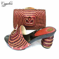 Capputine Latest Italian Shoes With Matching Bags Nigeria Wedding Shoes And Bag To Match Stones African Shoes And Bag Set