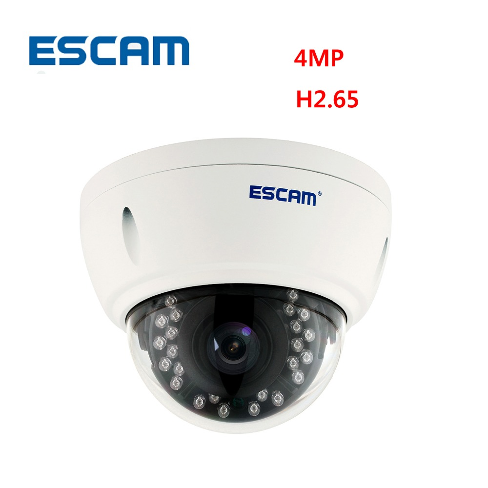 Escam QD420 Dome IP Camera H.265 4MP 1520P Onvif P2P IR Outdoor Surveillance Night Vision Security CCTV Camera 4 in 1 ir high speed dome camera ahd tvi cvi cvbs 1080p output ir night vision 150m ptz dome camera with wiper