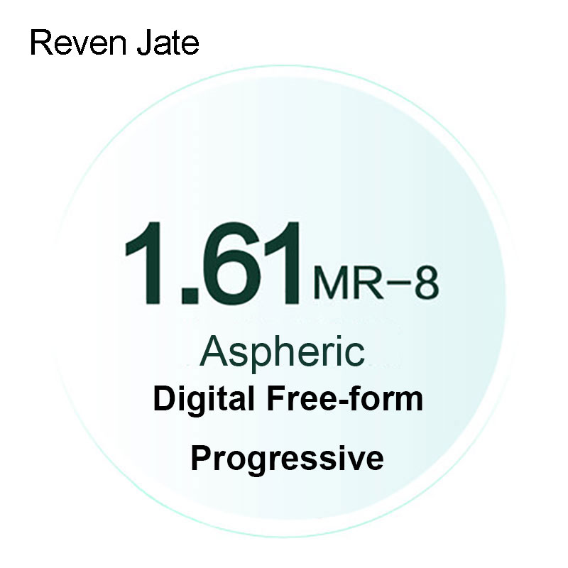 Reven Jate MR-8 Digital Freeform Resep Progresif Lensa Berwarna Lensa Optik Aspheric UV400 Solid dan Gradien