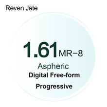 Reven Jate MR 8 Digital Freeform Progressive Prescription Tinted Lenses Aspheric Optical Lenses UV400 Solid and Gradient Tinted