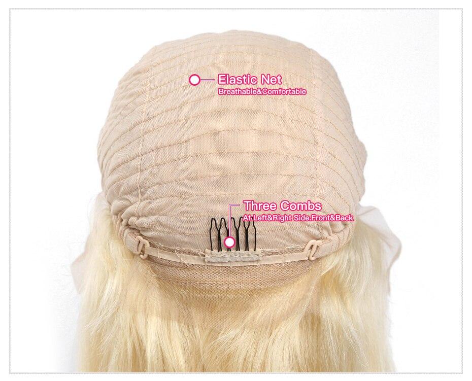 Perruques 613 Blonde 180% Densité Soyeuse Droite Brésilienne