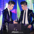 Male Fashion medium-long design Nightclub bar singer dj performance outerwear Male Personality jacket clothing costume costumes