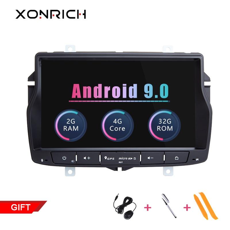 Xonrich Android 9.0 2G Car GPS For Lada Vesta Radio Stereo Navigation Audio Multimedia NO DVD Player Head Unit Wifi 4G SWC 32GB