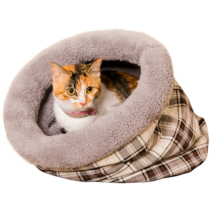 New Cat Bed Fanaticism Style Soft Material Lattice Pattern Tree Hole 2 Colors Reservations accepted Free Shipping British Style