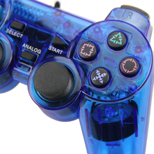 Wired Gamepad Transparent Joystick for PlayStation 2