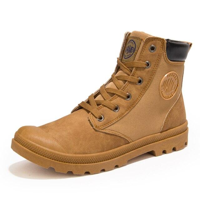 Зимние Мужчин Случайные Рабочие Ботинки Осенние Высокого Верха Обуви Ботинки Мужские Тренеры Нападение Тактический Военно Загрузки Открытый Пустыне сапоги