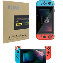 9 H Tempered Glass Screen Protector For Nintend Switch Protective Film Cover + Normal Screen Film For NS Switch Console tempered glass ultra clear full hd screen protective film surface guard for nintend switch ns console protector cover skin