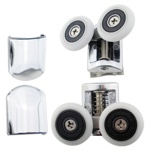 2Pcs/set Shower Door Rollers Runners 26mm Double-Wheeled Replacement  adjusted Circular arc Shower Door Roller Wheel цена и фото