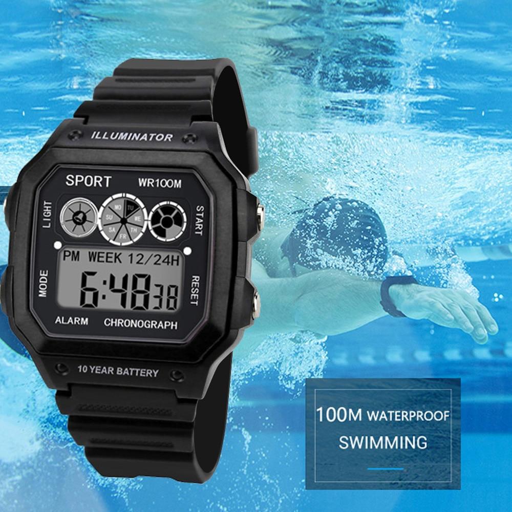 2019 Watches Men Diving Watch Electronic Digital Display Retro Style Clock Men Relogio Male Reloj Hombre Men's Watch