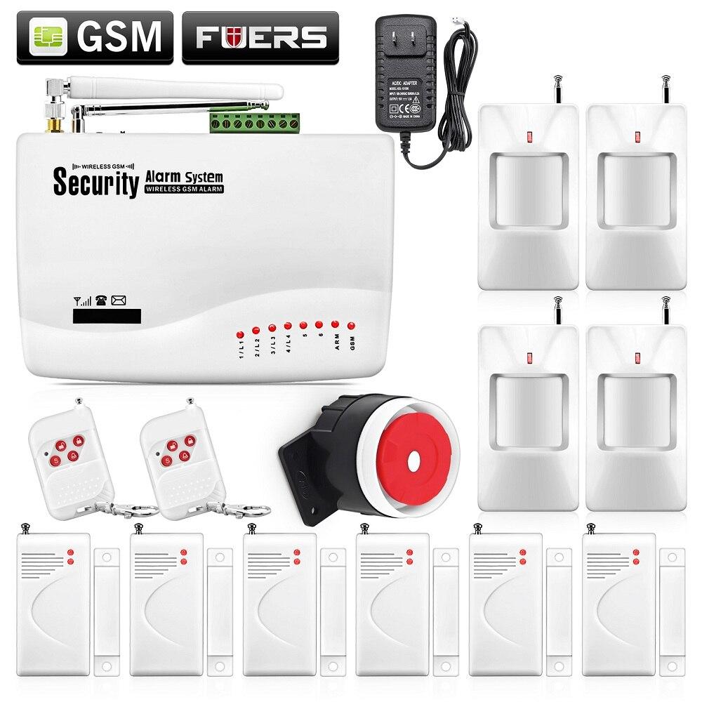 ФОТО Wireless GSM Intruder Burglar Dual Antenna Alarm Systems Security Home Wireless Signal  PIR/Door Sensor  Russian voice Manual