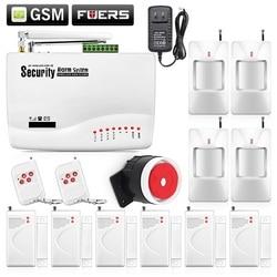 Wireless gsm intruder burglar dual antenna alarm systems security home wireless signal pir door sensor russian.jpg 250x250