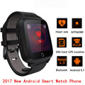 "2017 smart watch android 5.1 mtk6580 1g ram 8 gb rom 1.54 ""Display Smartwatch Suporte por Telefone SIM card WiFi GPS Freqüência Cardíaca Monitor de"
