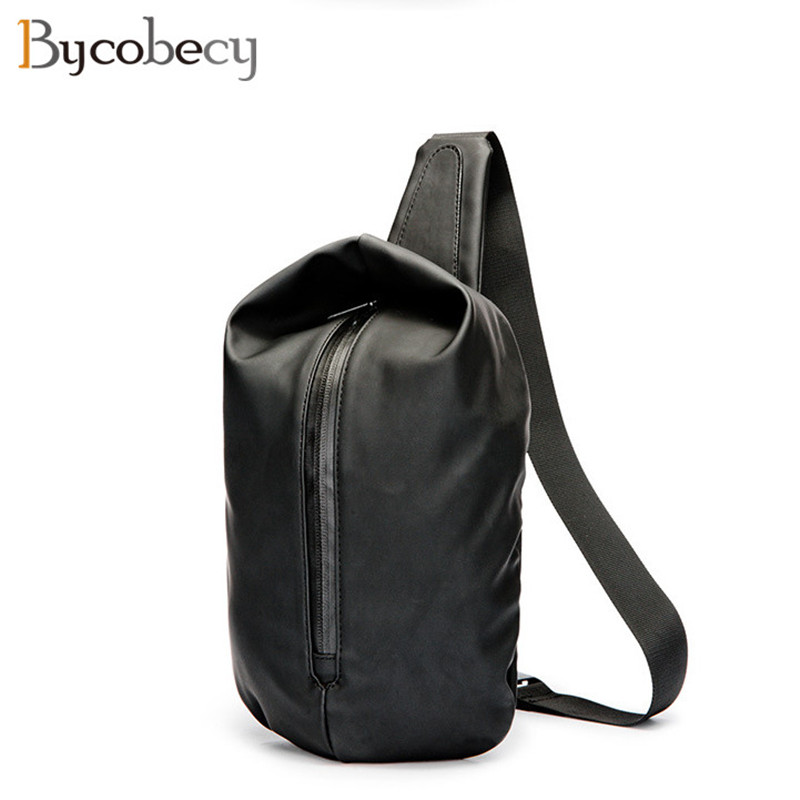BYCOBECY New Arrival Men Chest Pack Single Shoulder Strap Back Bag Crossbody Bags for Men Sling Shoulder Bag Back Pack Travel