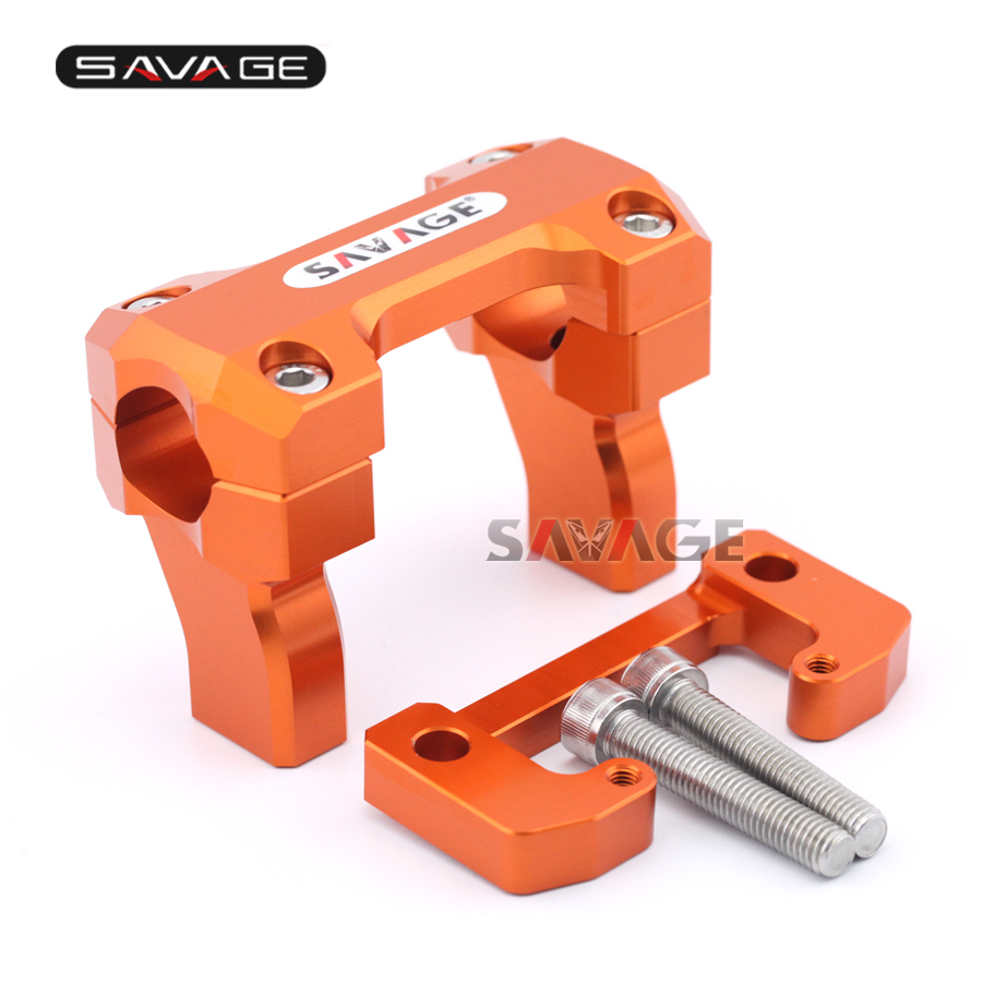 For KTM 690 Enduro R/SMC-R/DUKE R/DUKE Motorcycle Aluminum Handlebar Bar Clamp Riser Mount Bracket Height 50mm-64mm for ktm 690 duke r smc smc r enduro r new motorcycle adjustable handlebar riser bar clamp extend adapter