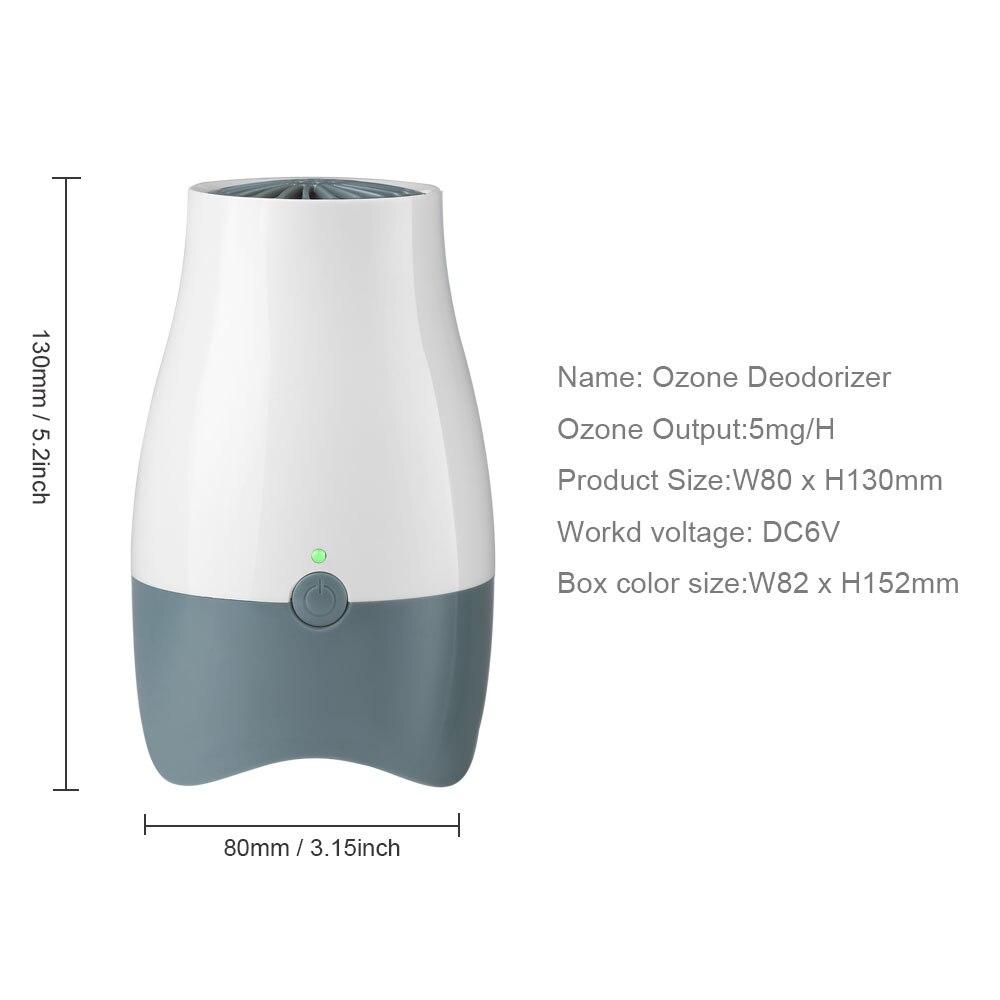 Очиститель воздуха генератор озона запах устраняет ионный озонатор воздуха Концентратор кислорода портативный устраняющий запах