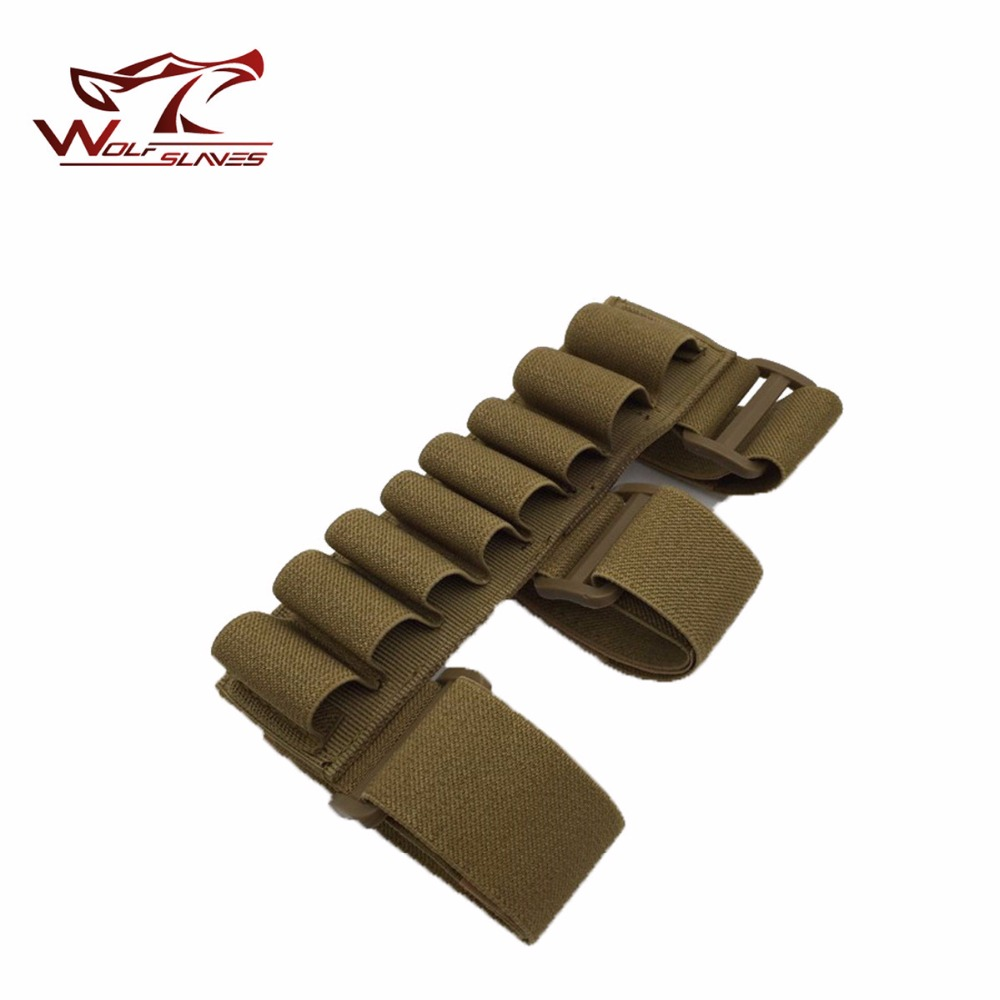2017 New Arrival Tactical 8 Round Gun Shell Holder Ammo Bag 1000D Nylon Light Weight Arm Band Bullet Pouches For Hunting Games