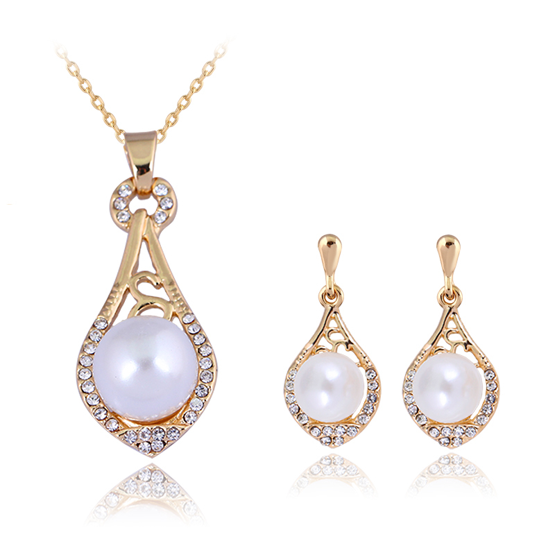 danbihuabi Pearl Necklace Earrings Set Jewelry Sets For Women Party Costume Statement We ...