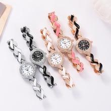 Fashion retro watch Explosion style diamond-studded alloy bracelet ladies new