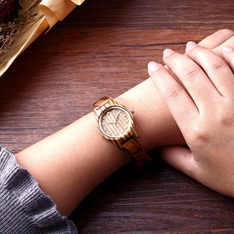 New Design Women Zebra Wooden Watch Luxury Brand Top Gift 5