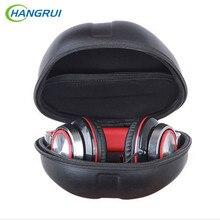 HANGRUI Protable Storage Box Beats 헤드폰 범용 PU 가죽 헤드폰 케이스 충격 방지 가방 Anti-fall Bag