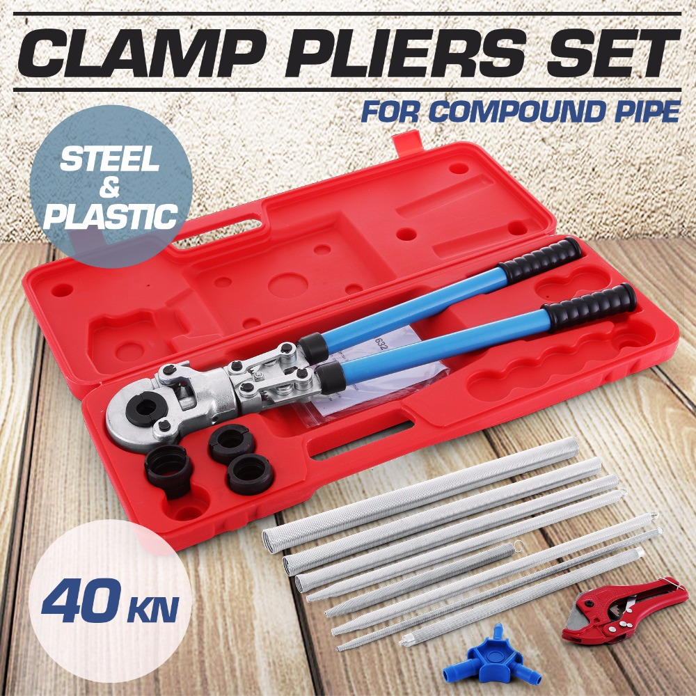 Tool Set TH Pressing Pliers Bending Calibrator And Pipe Shears For Compound Pipe