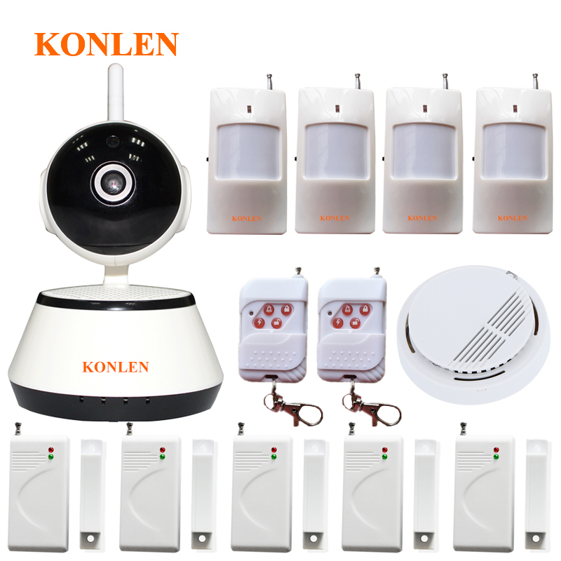 Android IOS WIFI Burglar Alarm CCTV IP Camera System Wireless for Home Anti theft Video Surveillance Safety Security Protection