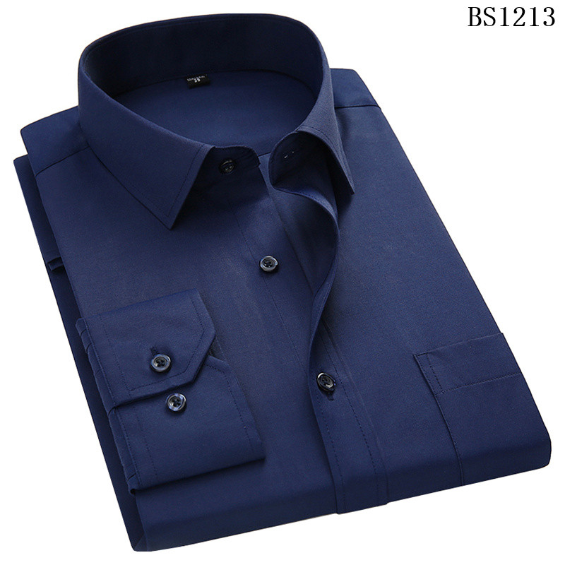 HTB1I64QWkPoK1RjSZKbq6x1IXXaH - Plus Large Size 8XL 7XL 6XL 5XL 4XL Mens Business Casual Long Sleeved Shirt