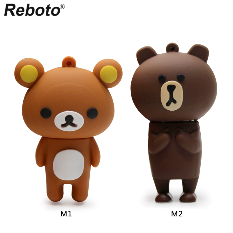 Computer & Office Jaster Cartoon Animal Bear Model Usb Flash Drive Usb 2.0 Cute Keychain Memory Stick Pendrive 4gb 8gb 16gb 32gb Free Shipping Durable Service