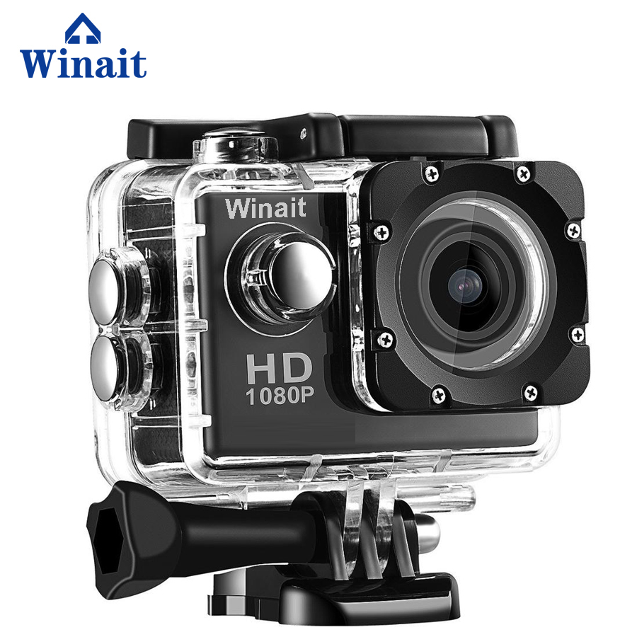 Winait Full HD 1080P Sport Cam Video Recorder 30M Underwater 2.0 LCD Display Mini Sports DVR TF Card Memory Max To 32GB