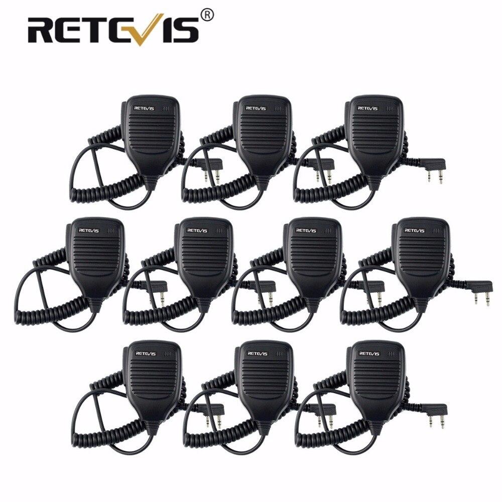 10 pz Walkie Talkie Microfono PTT Mic Per Kenwood Retevis RT7 RT22 H-777 Baofeng UV-82 UV5R per Puxing per HYT Per TYT TH