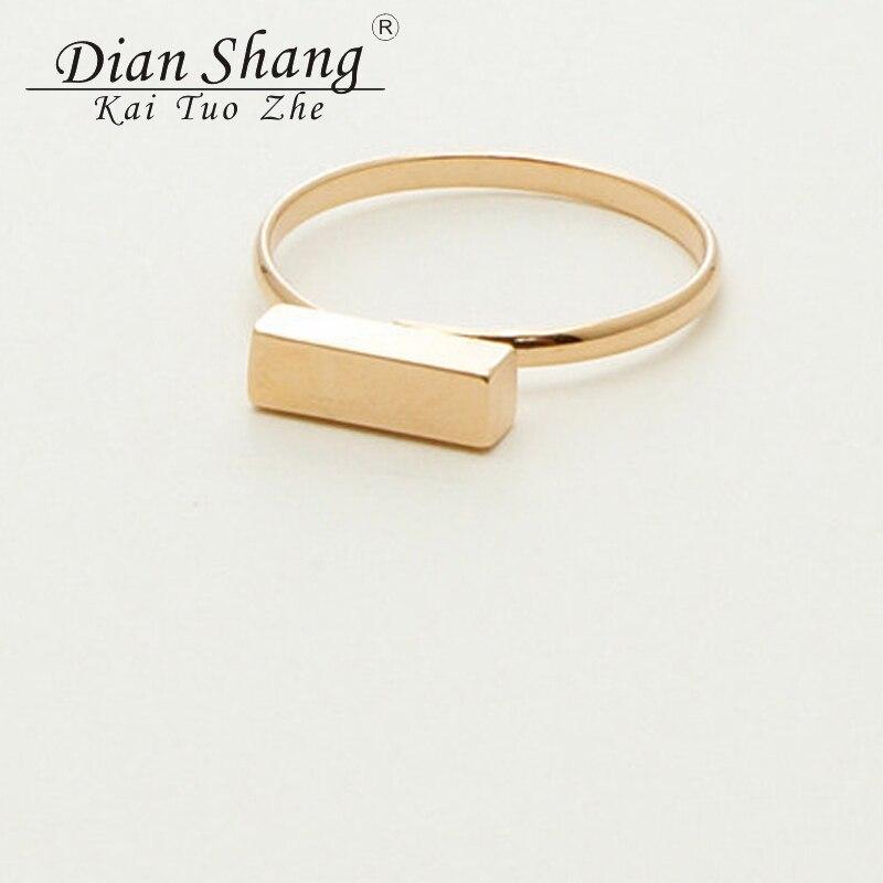 2017 New BFF Minimal Thin Cubic Bar Rings For Women Boho - Κοσμήματα μόδας - Φωτογραφία 2