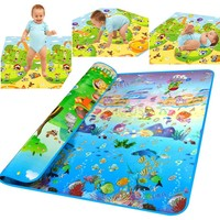 2014 Fashion Doulble Site Baby Play Mat 2 1 8 Ocean And Zoo Child Outdoor Game