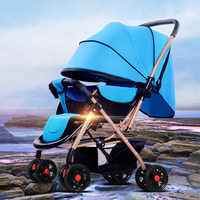 2017 New High quality Baby Stroller High View Can Sit Lie Pram Folding Baby Carriage,Portable Travel System Pushchairs carrinho