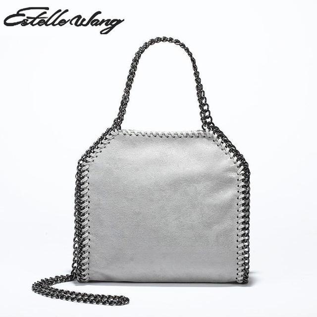 313ab6e08519 High quality PVC Leather Handbag stella small Crossbody chain bag Ladies  2016 Clutches Simple handbags