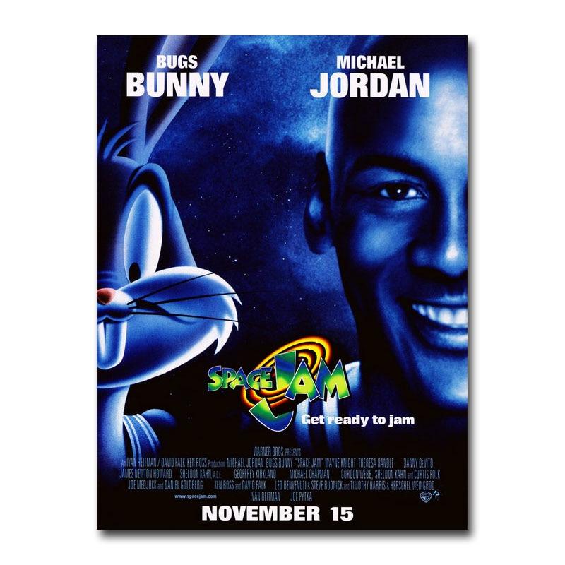 Space Jam  Michael Jordan 1996 Looney Tunes Art Movie Canavs Silk Poster Print