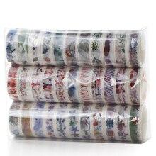 купить 33 Pcs/box Cute Flower Food Animals Decorative Washi Tape DIY Scrapbooking Masking Tape School Office Supply Gift дешево