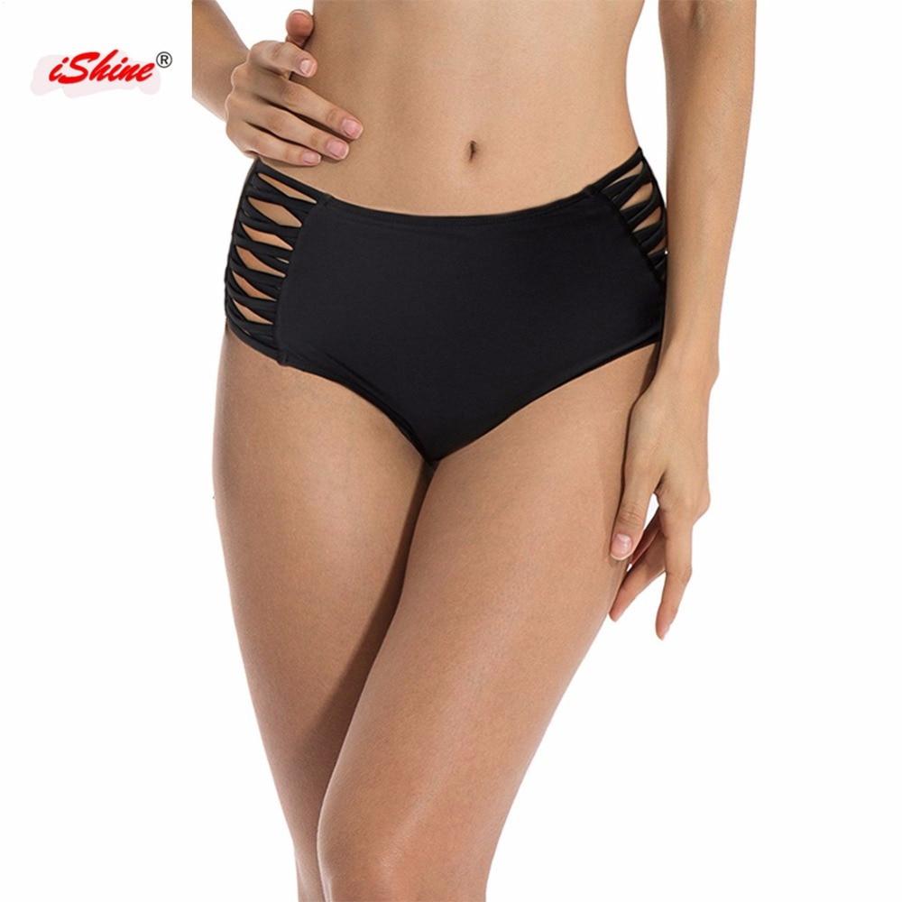 Sexy Solid Bikini Brazilian Cut Out Swimwear Women Bottom -4713