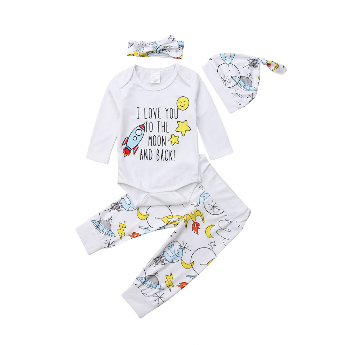 f16c78102 Aliexpress.com   Buy 4Pcs Newborn Baby Boy Girl Clothing Long Sleeve ...