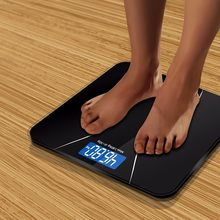 A2 Precision Bathroom Scale Body Smart Electronic Digital Weight Home Floor Balance Toughened Glass LCD Display 180kg/50kg(China)