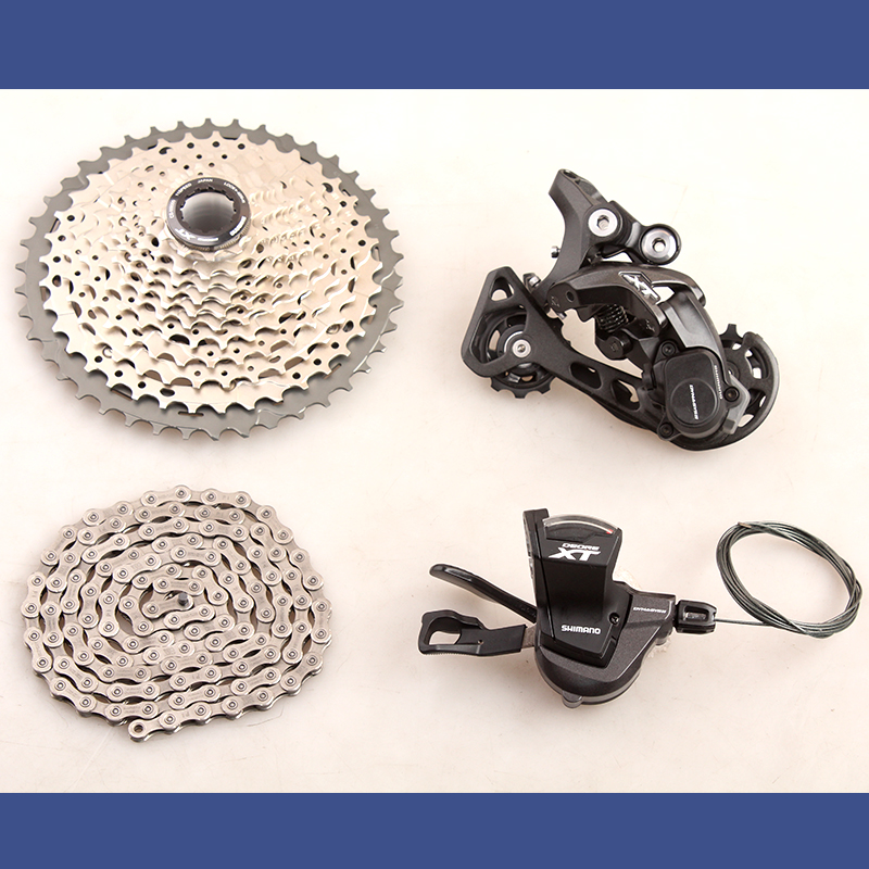 SHIMANO DEORE XT M8000 1x11 11S Speed 11-42T 11-46T Groupset Contains Shifter Lever & Rear Dearilleur & Cassette & Chain