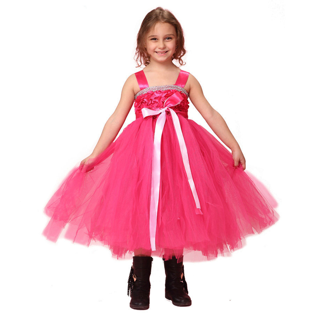 infant party dress crystal square neck kids dresses for girls ...