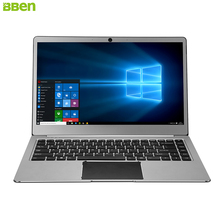 BBEN Ultraslim Laptop Windows 10 Intel N3450 Intel HD Graphics Quad Core 4GB RAM 64G eMMC M.2 SSD 14.1 Notebook Laptops IronGray